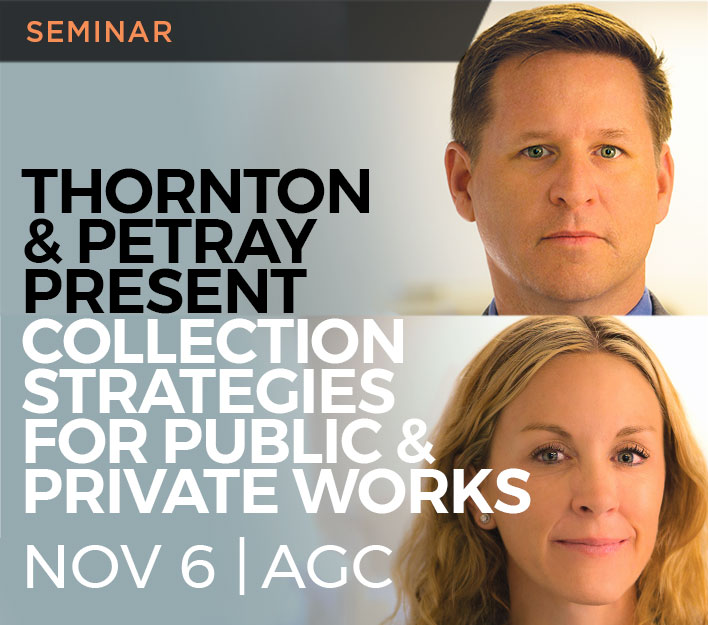 Image promoting Jason Thornton and Andrea Petray seminar titled Collection Strategies And Practical Advice to be presented on November 6, 2018.