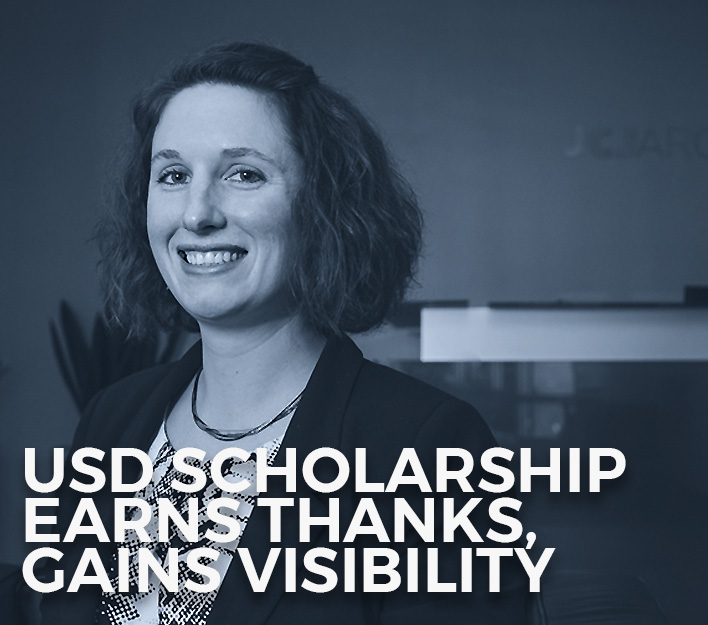 Image of Sara Miller, recipient of the 2018 Finch, Thornton & Baird, LLP Scholarship at USD School of Law.