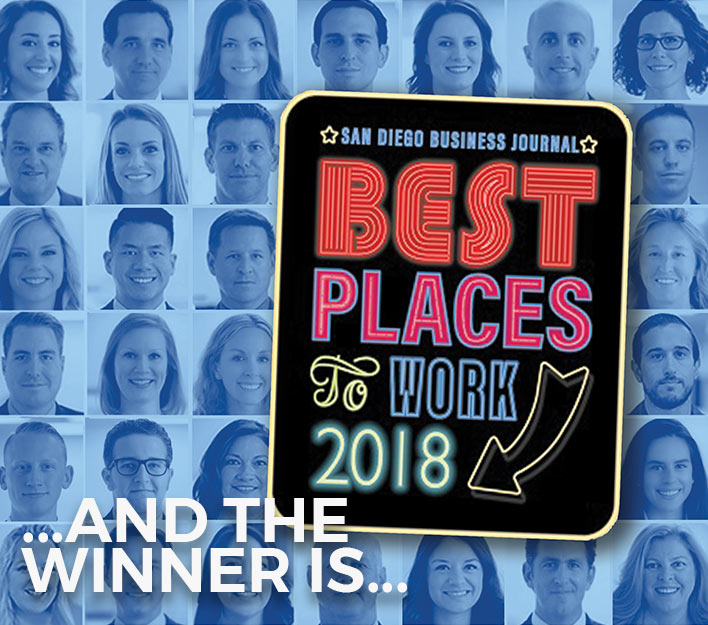 Many Factors No Doubt Contributed To Our Being Named A San Diego Business Journal 2018 Best Places To Work Award Winner. But None More Important Than Our Team Of Inspired And Caring People. Kudos To The Other Winners, Too.