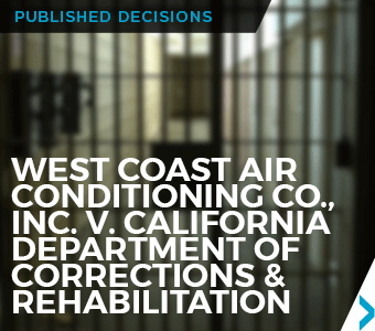 Image of Published Decision for client West Coast Air Conditioning Co., Inc.