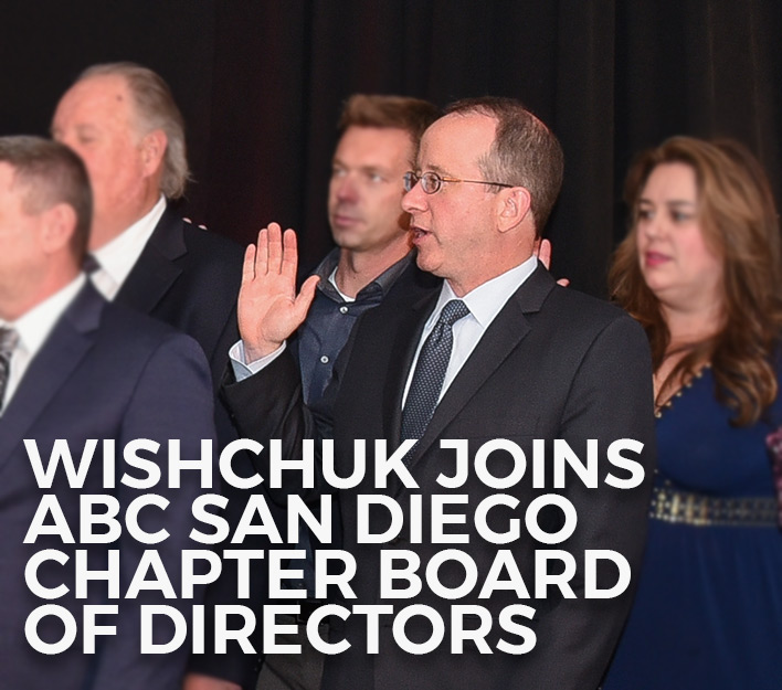 Image Of Banner Promoting Chad Wishchuk's Selection To The ABC San Diego Chapter's Board Of Directors.