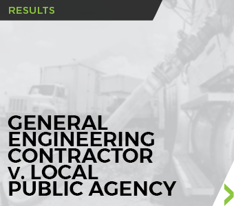 Image linking to Finch, Thornton & Baird, LLP Result for a General Engineering Contractor v. Local Public Agency.