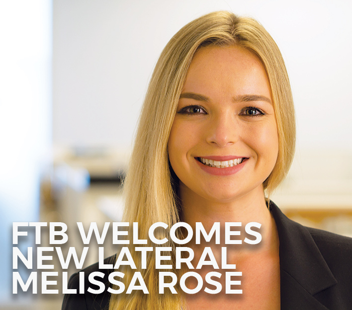 Image promoting addition of attorney Melissa H. Rose to Finch, Thornton & Baird, LLP.
