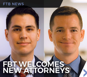Image of new Finch, Thornton & Baird, LLP attorneys H. Daniel Haro and Daniel R. Spencer.